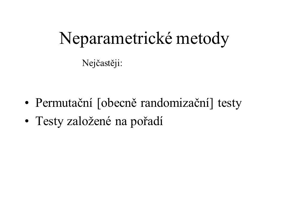 Neparametrické metody