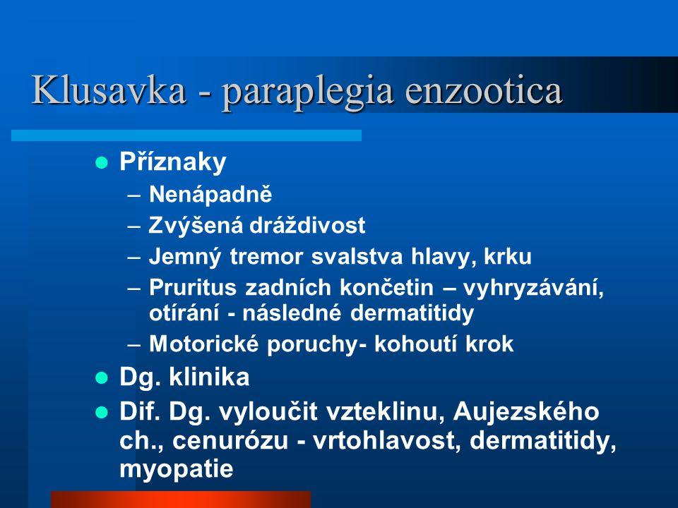 Klusavka - paraplegia enzootica