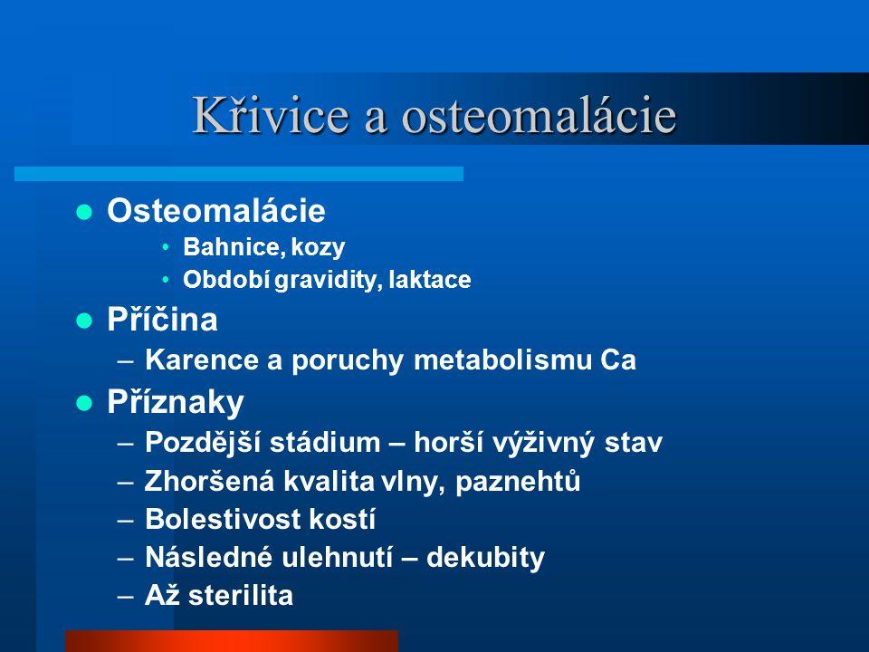 Křivice a osteomalácie