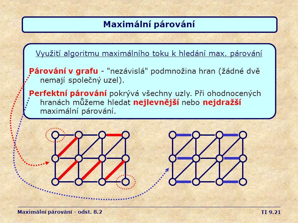 Využití algoritmu maximálního toku k hledání max. párování