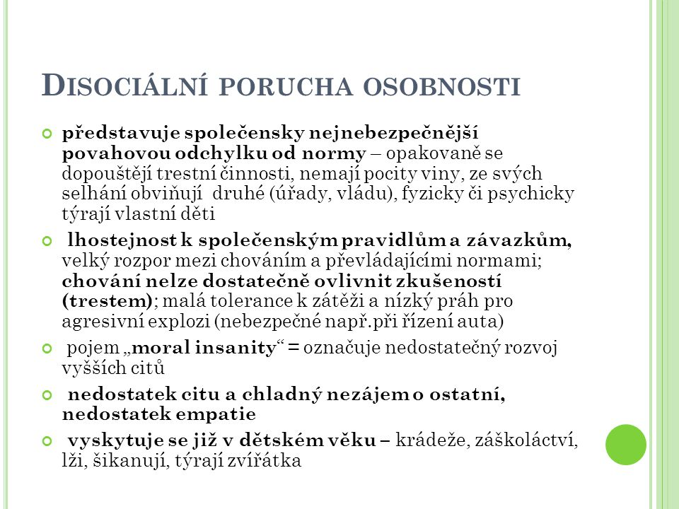 Disociální porucha osobnosti