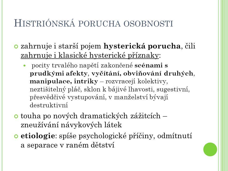 Histriónská porucha osobnosti