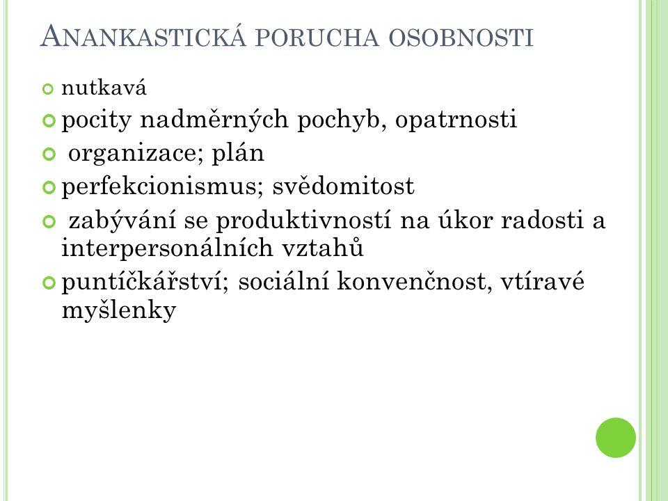Anankastická porucha osobnosti