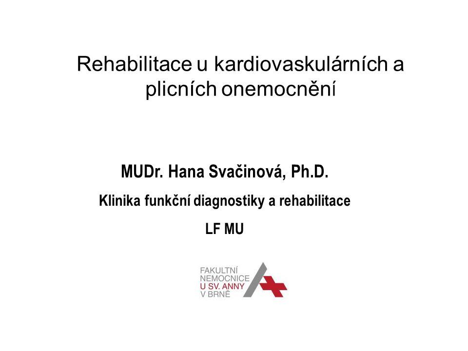 Rehabilitace u kardiovaskulárních a plicních onemocnění