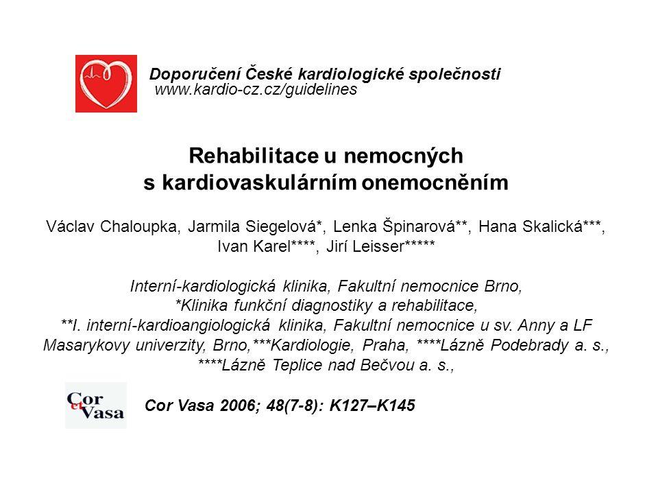 Rehabilitace u nemocných s kardiovaskulárním onemocněním