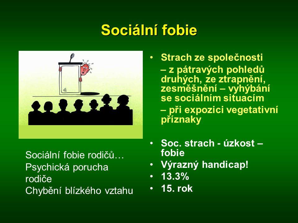 Sociální fobie Strach ze společnosti