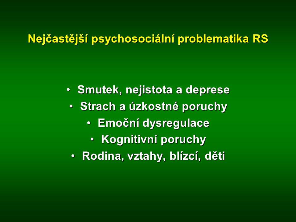 Nejčastější psychosociální problematika RS