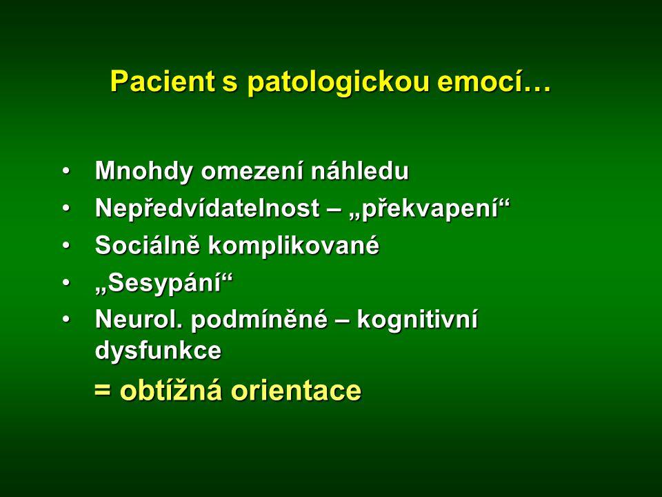 Pacient s patologickou emocí…