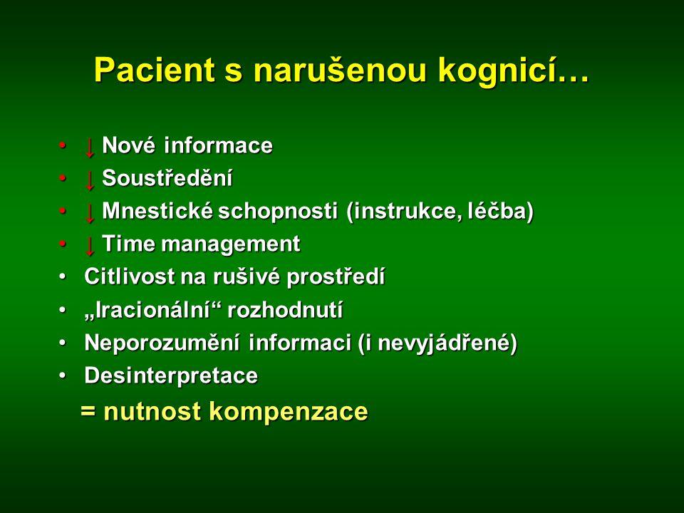 Pacient s narušenou kognicí…