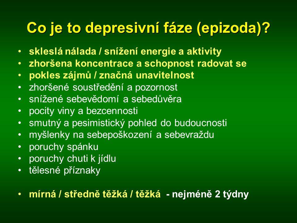 Co je to depresivní fáze (epizoda)