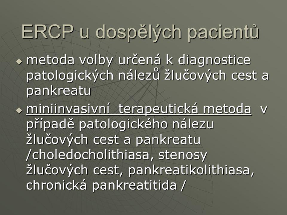 ERCP u dospělých pacientů
