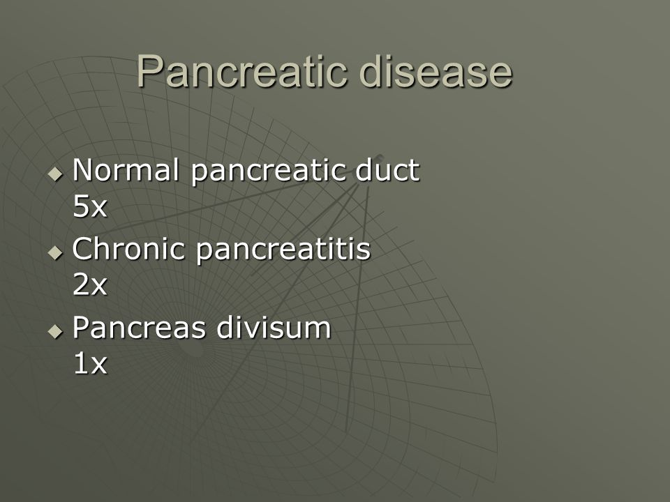 Pancreatic disease Normal pancreatic duct 5x Chronic pancreatitis 2x