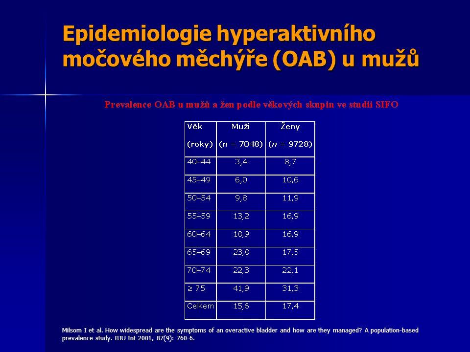 Epidemiologie hyperaktivního močového měchýře (OAB) u mužů