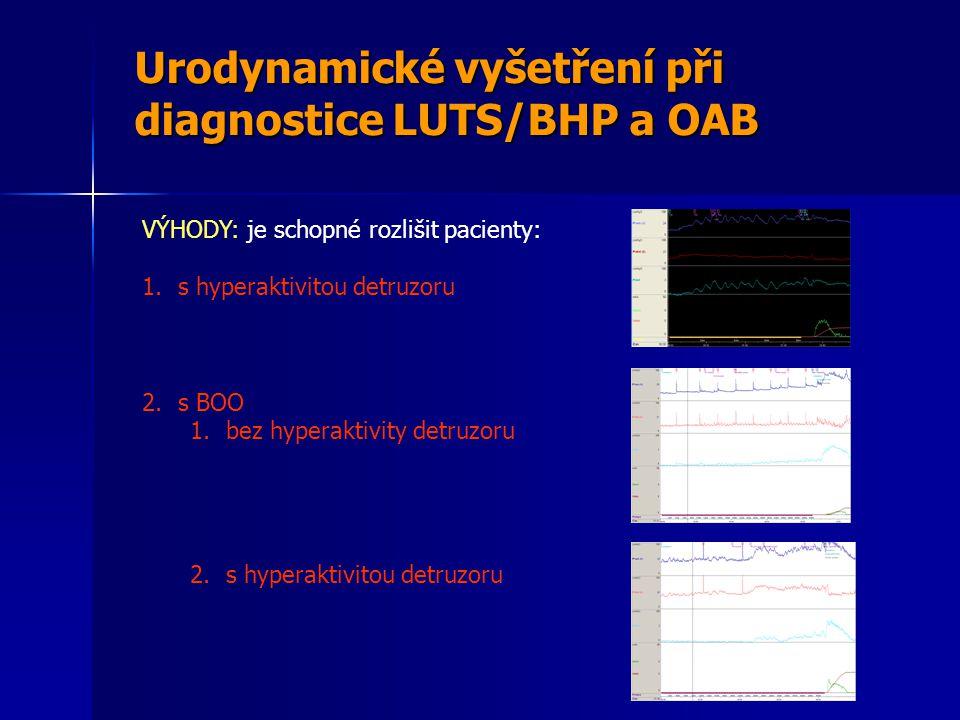 Urodynamické vyšetření při diagnostice LUTS/BHP a OAB