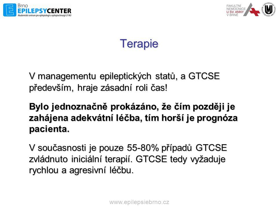 Terapie V managementu epileptických statů, a GTCSE především, hraje zásadní roli čas!