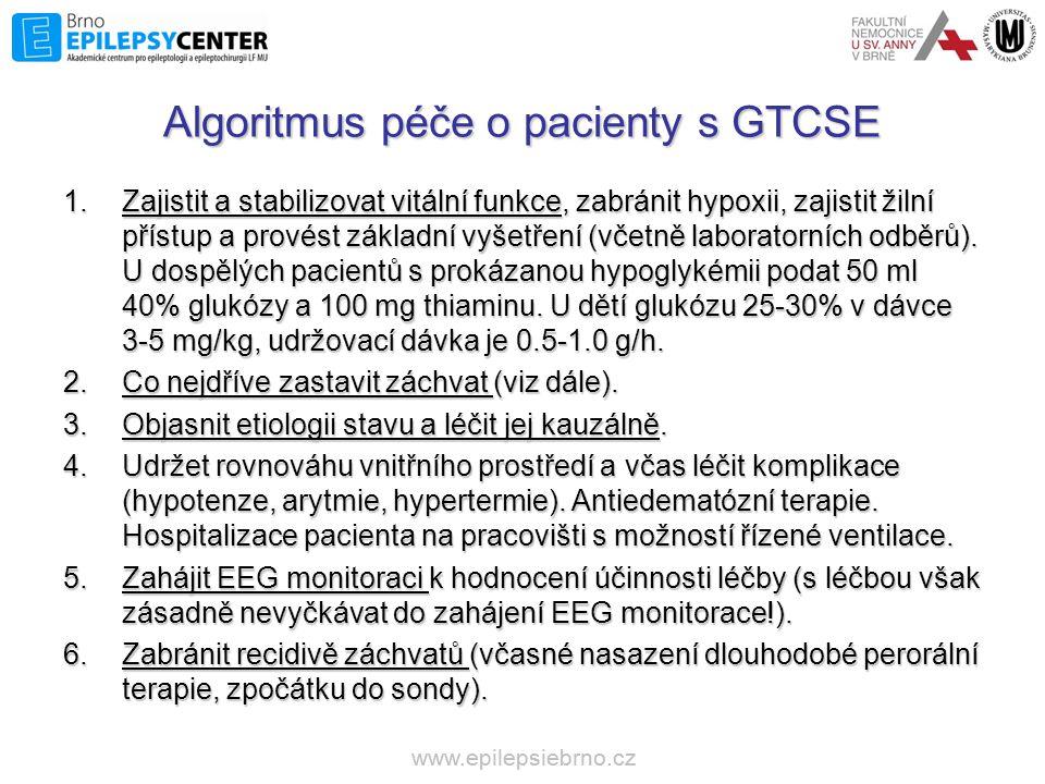 Algoritmus péče o pacienty s GTCSE