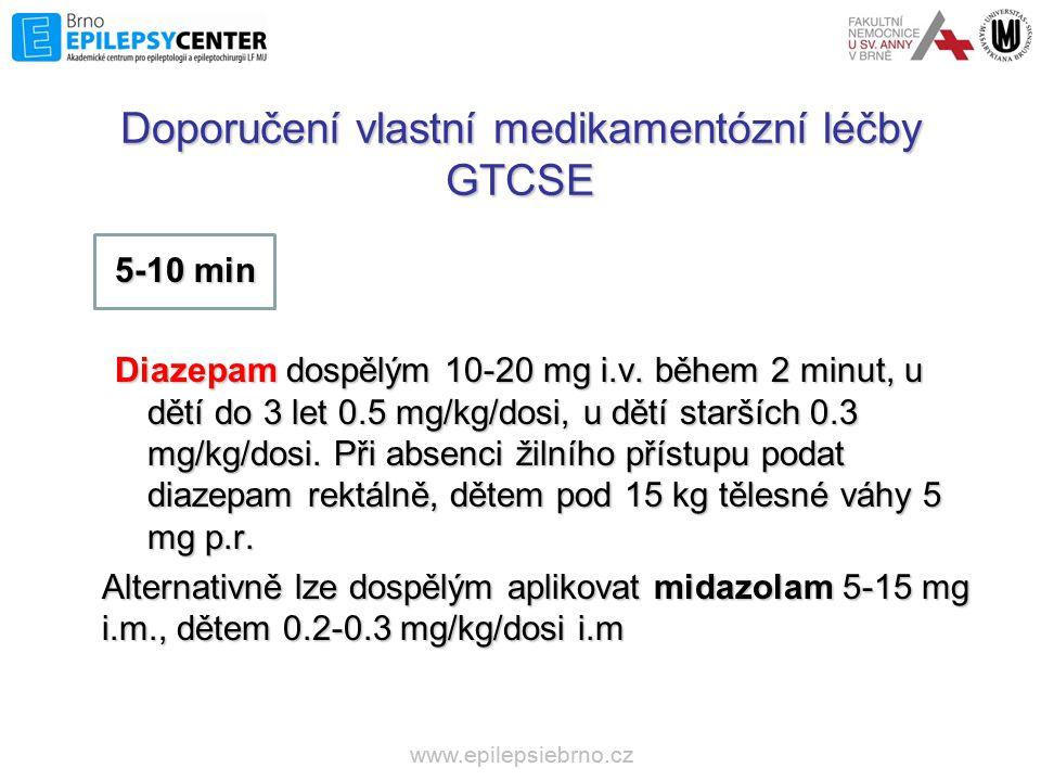 Doporučení vlastní medikamentózní léčby GTCSE