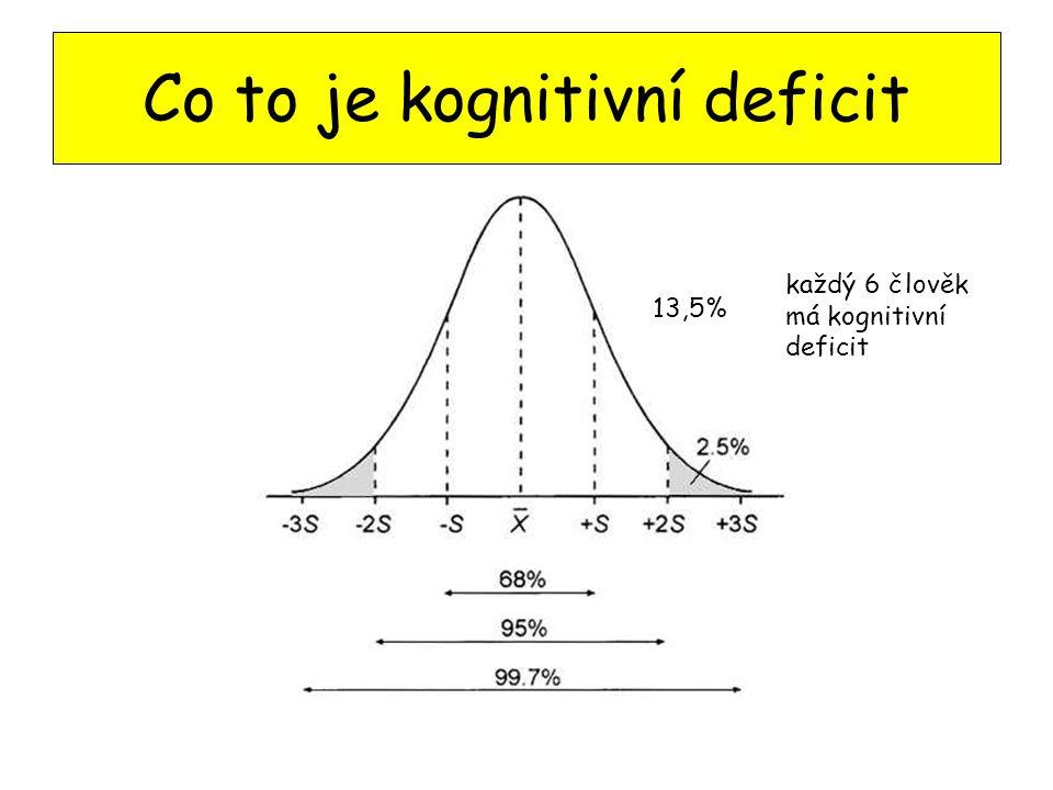 Co to je kognitivní deficit