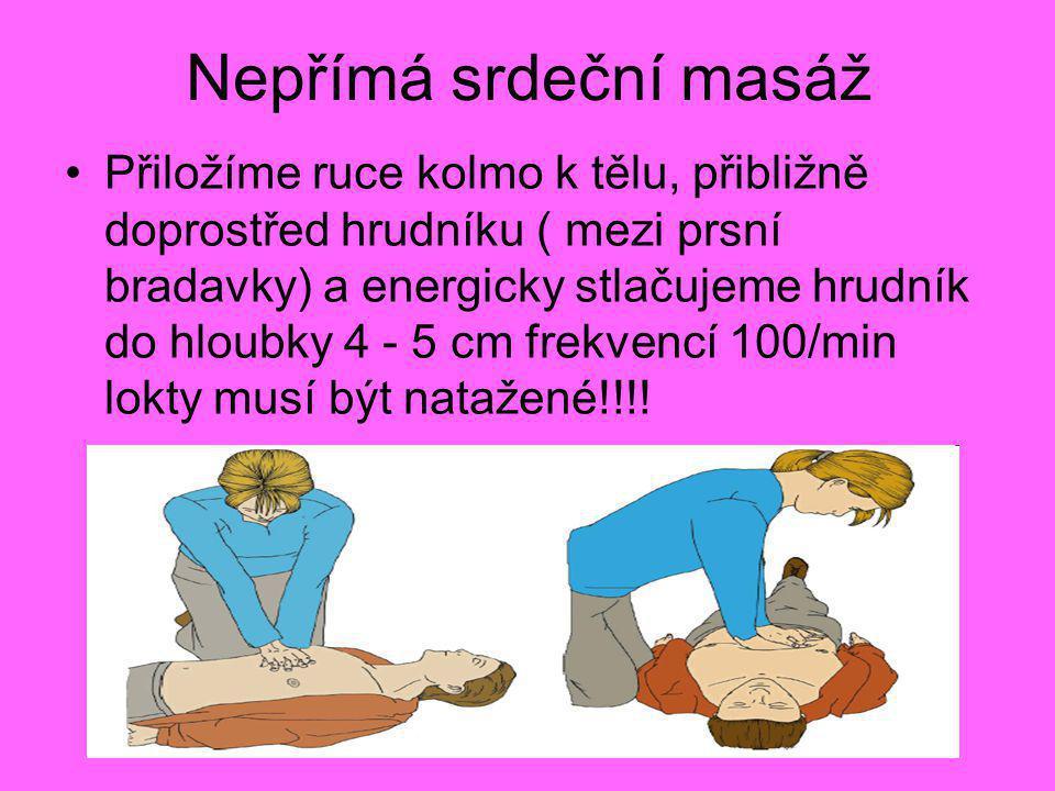 Nepřímá srdeční masáž