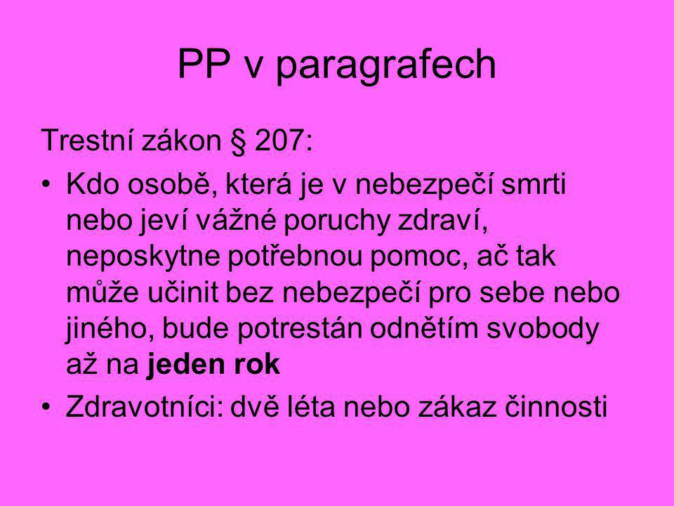 PP v paragrafech Trestní zákon § 207: