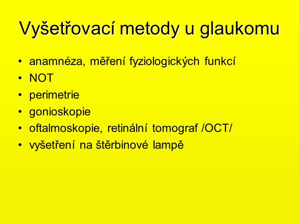 Vyšetřovací metody u glaukomu