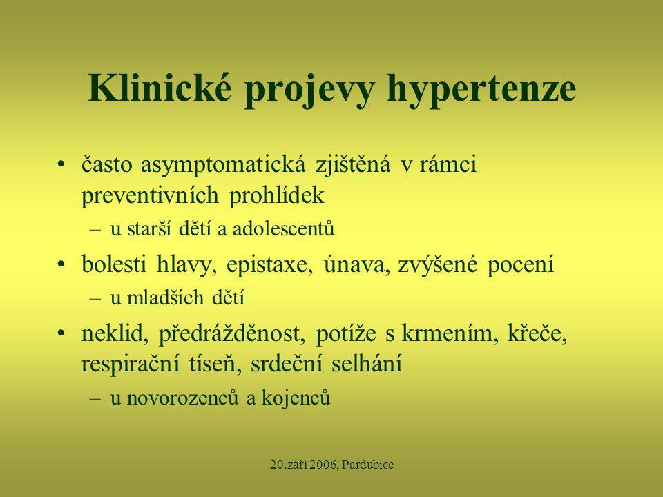 Klinické projevy hypertenze