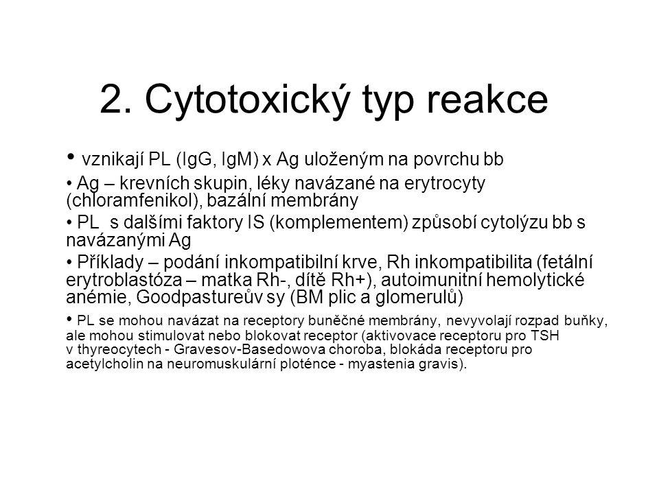 2. Cytotoxický typ reakce
