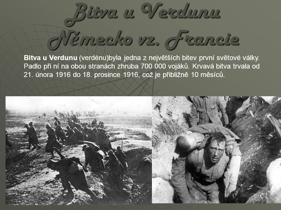 Bitva u Verdunu Německo vz. Francie