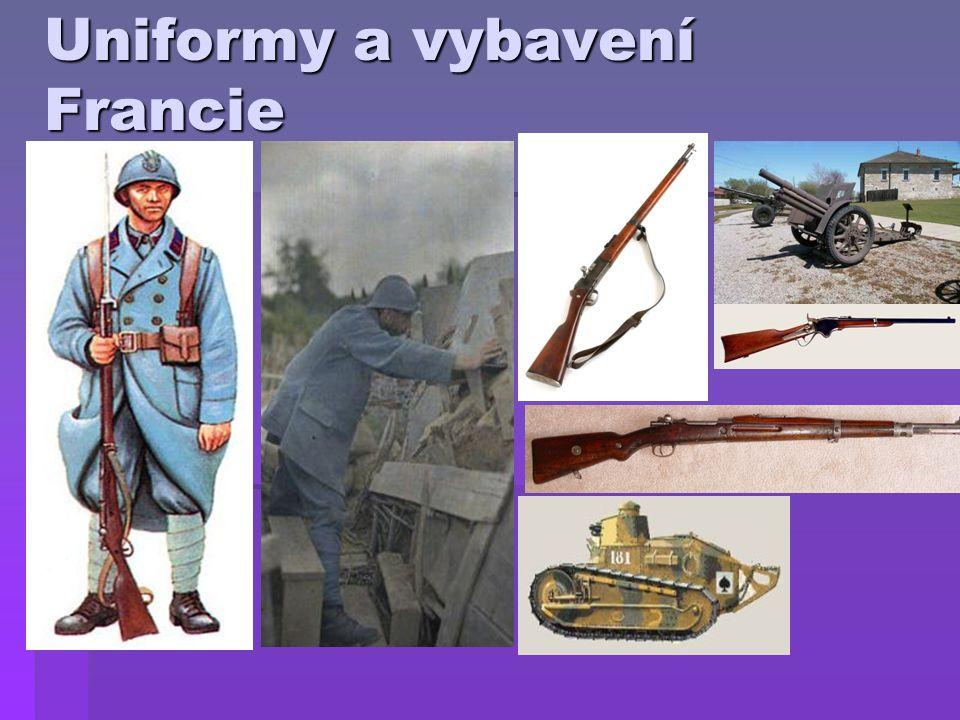Uniformy a vybavení Francie
