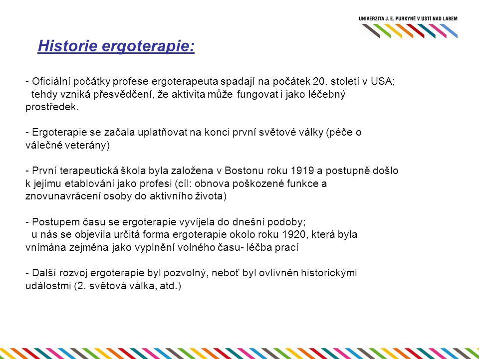 Historie ergoterapie: