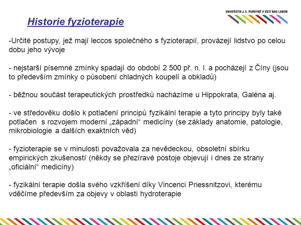 Historie fyzioterapie