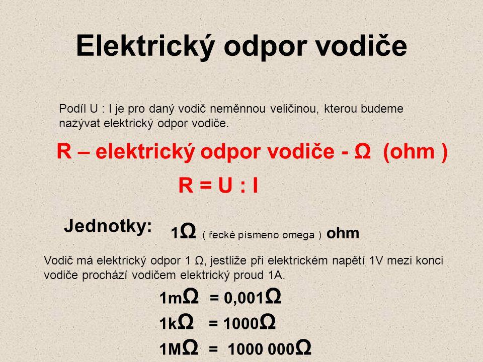 Elektrický odpor vodiče