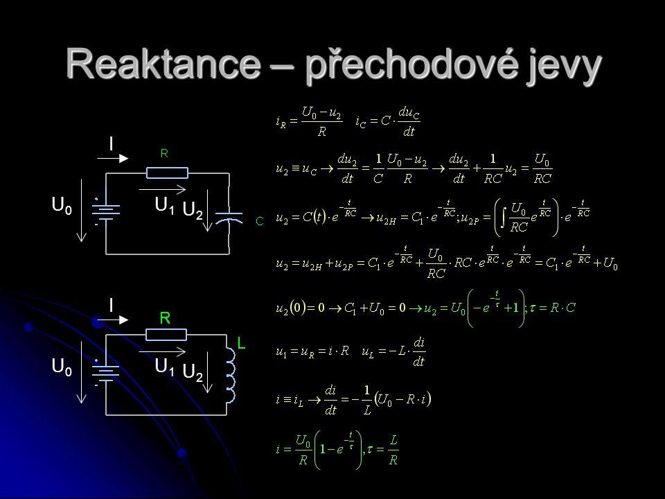 Reaktance – přechodové jevy