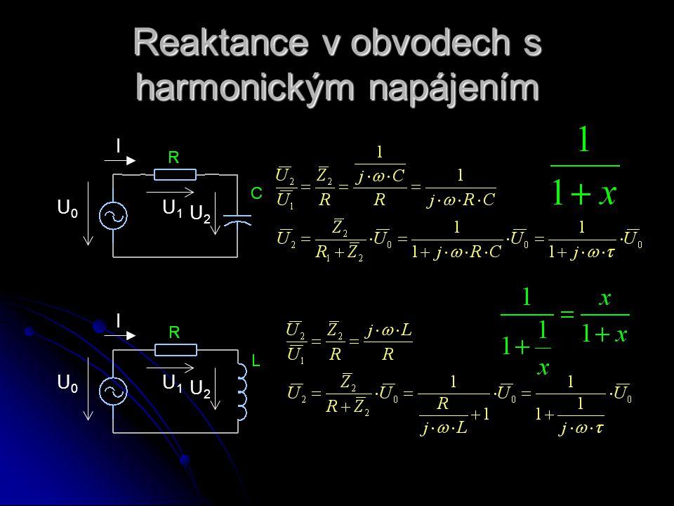 Reaktance v obvodech s harmonickým napájením