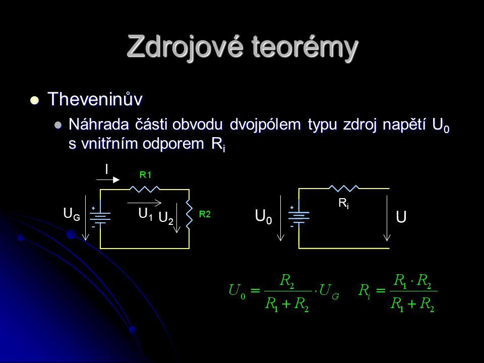 Zdrojové teorémy Theveninův