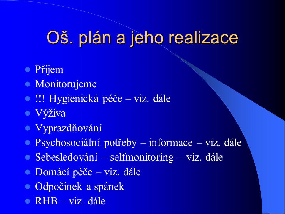 Oš. plán a jeho realizace