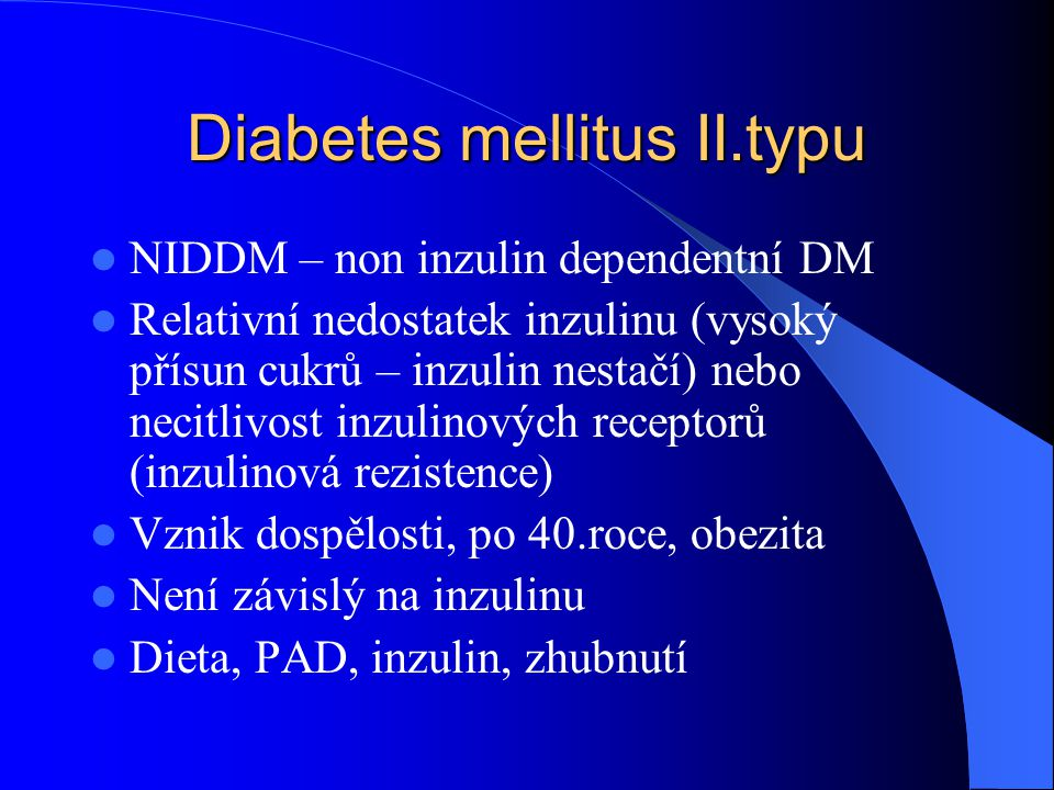 Diabetes mellitus II.typu