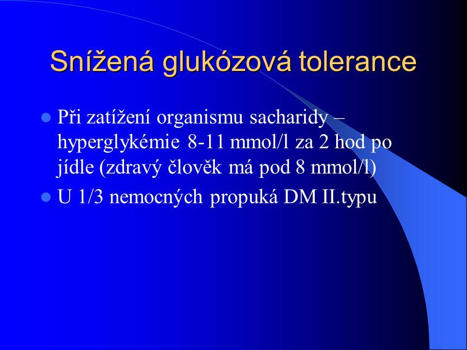 Snížená glukózová tolerance
