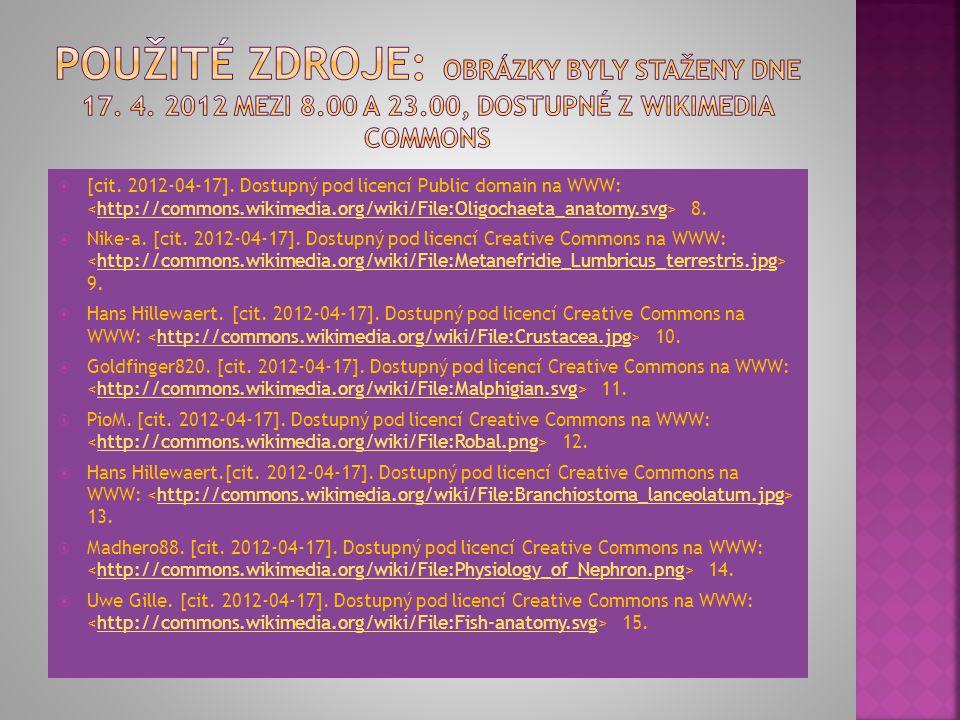 Použité zdroje: Obrázky byly staženy dne 17. 4. 2012 mezi 8. 00 a 23