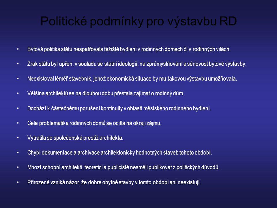 Politické podmínky pro výstavbu RD