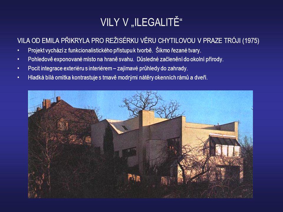 """VILY V """"ILEGALITĚ VILA OD EMILA PŘIKRYLA PRO REŽISÉRKU VĚRU CHYTILOVOU V PRAZE TRÓJI (1975)"""