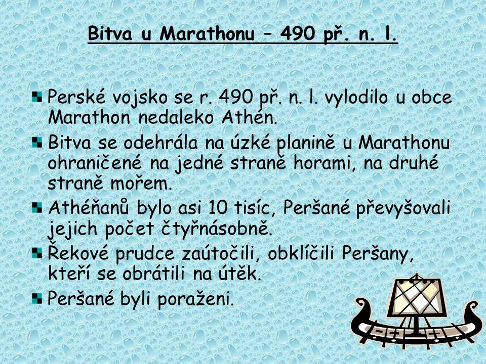 Bitva u Marathonu – 490 př. n. l.