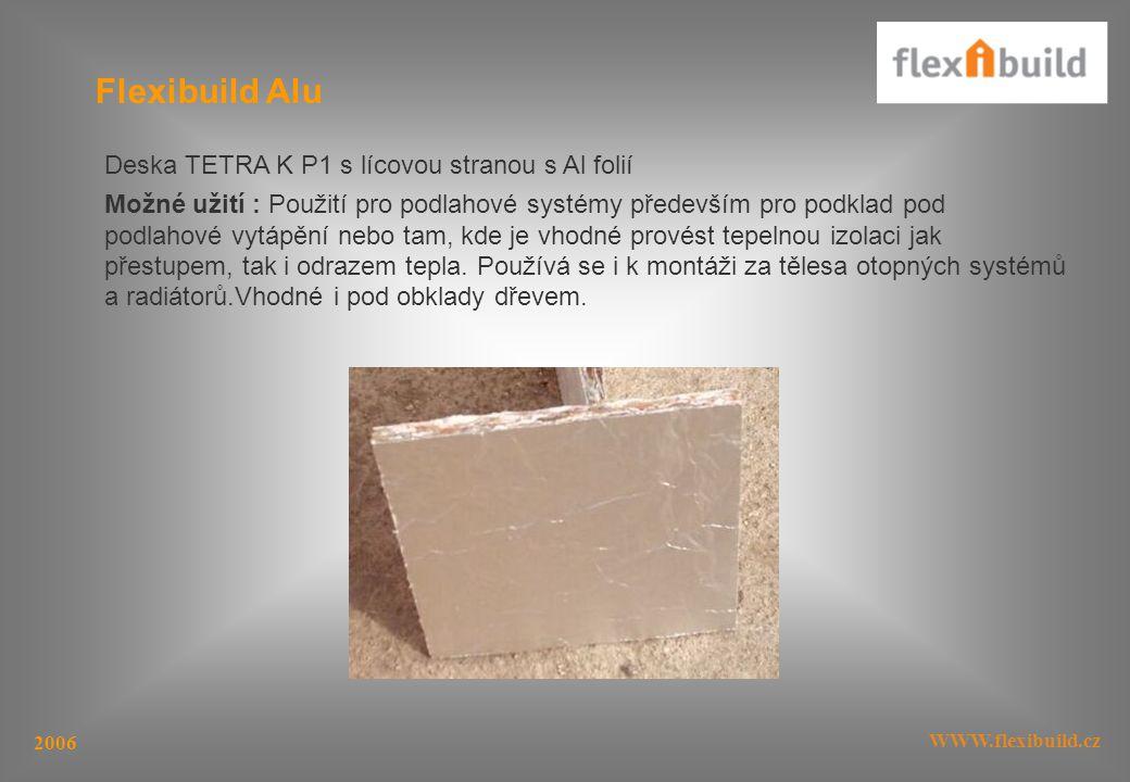 Flexibuild Alu Deska TETRA K P1 s lícovou stranou s Al folií