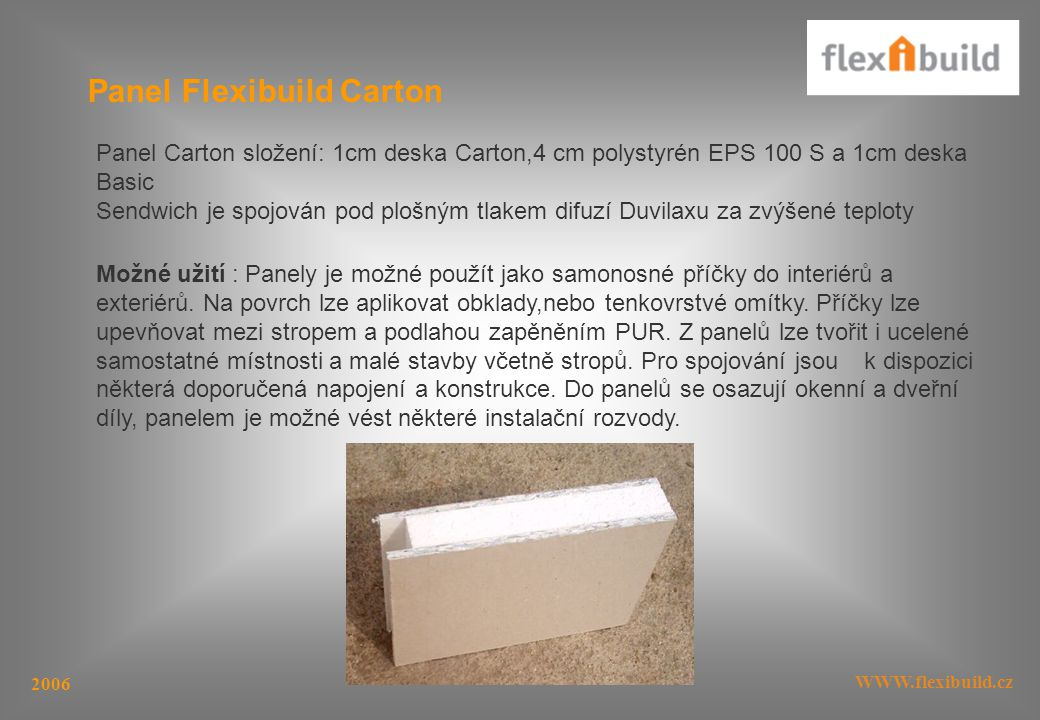 Panel Flexibuild Carton