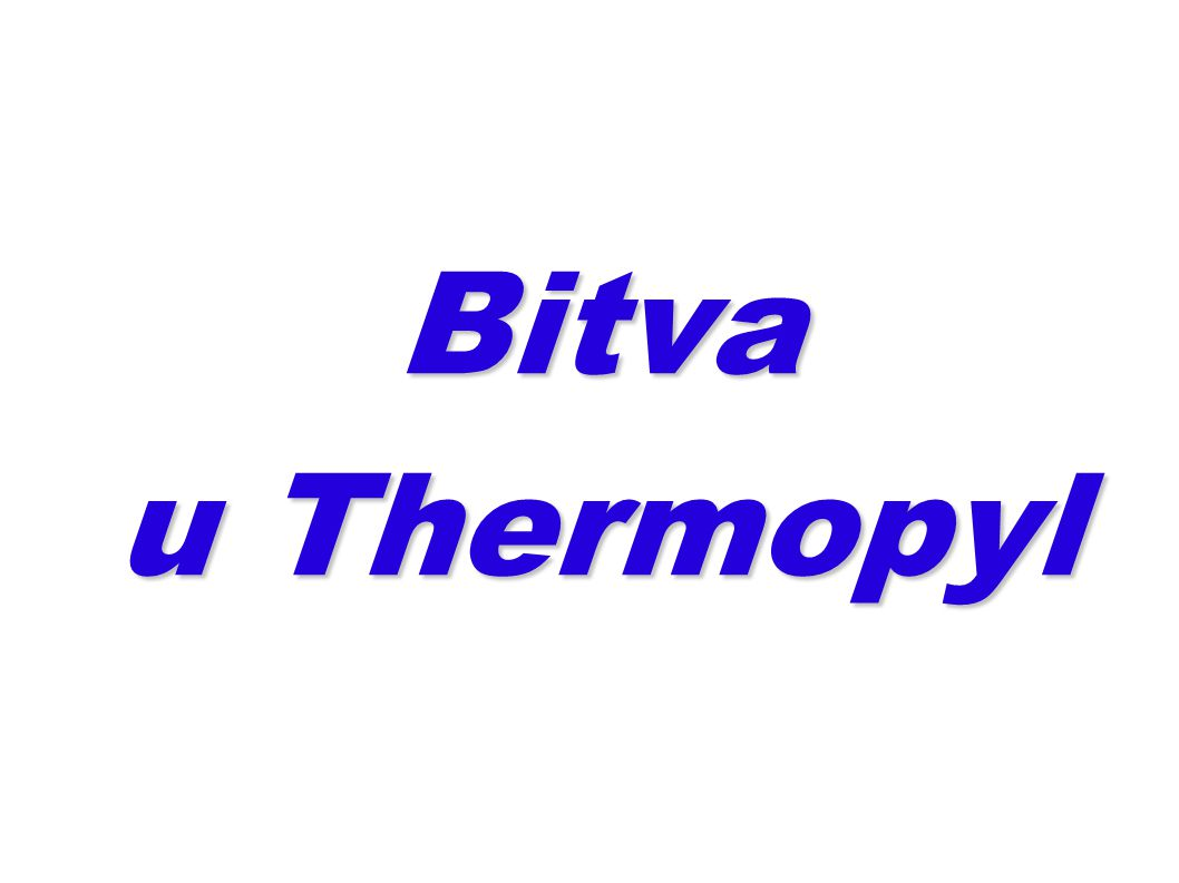 Bitva u Thermopyl