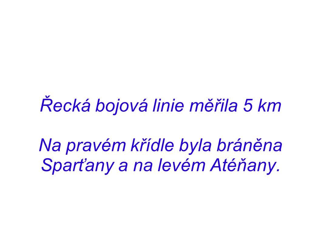 Řecká bojová linie měřila 5 km