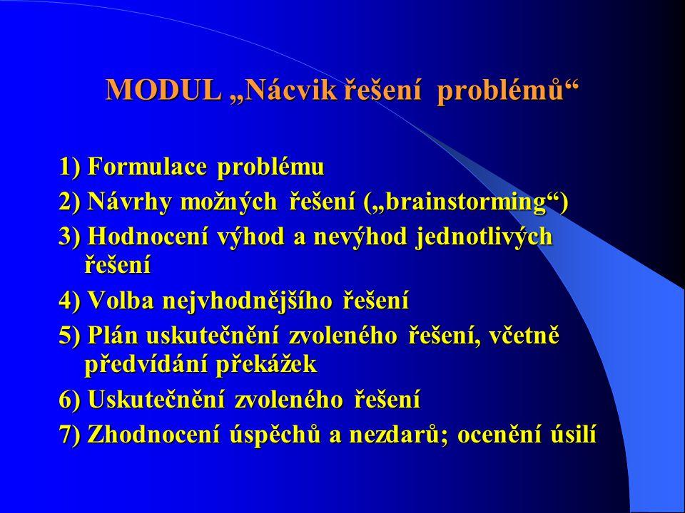 """MODUL """"Nácvik řešení problémů"""