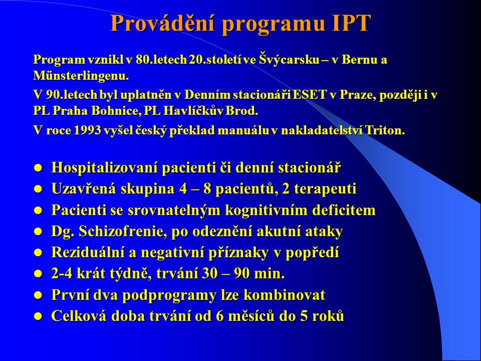 Provádění programu IPT