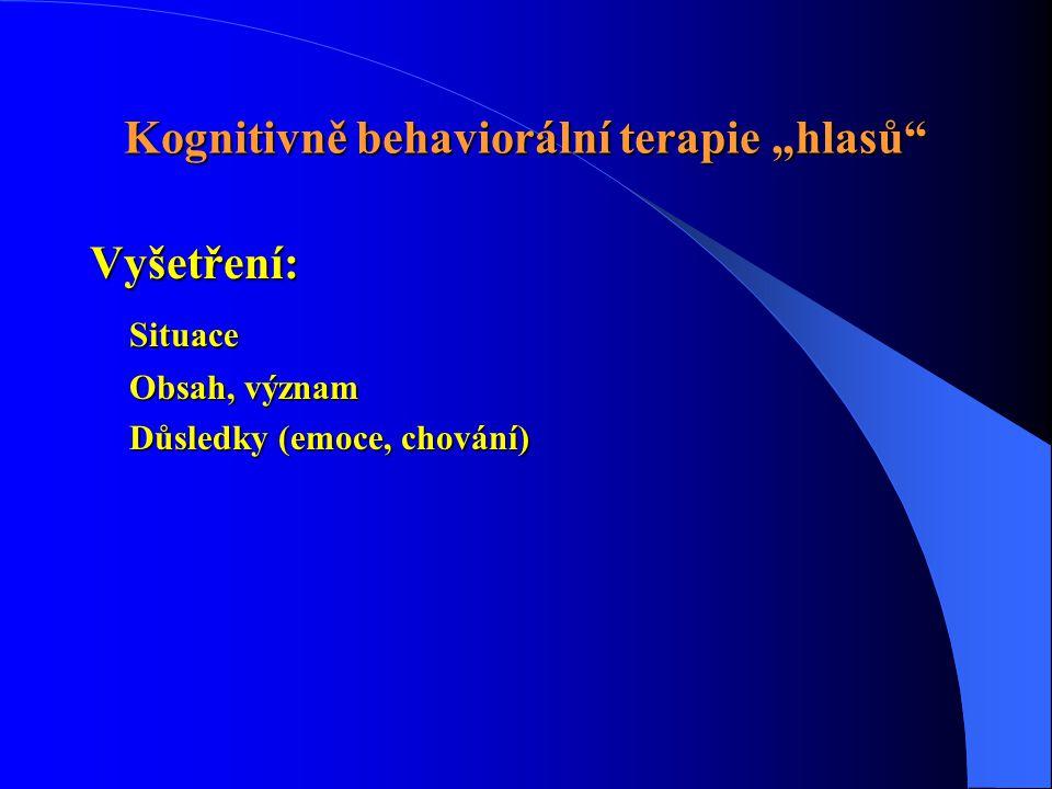 """Kognitivně behaviorální terapie """"hlasů"""