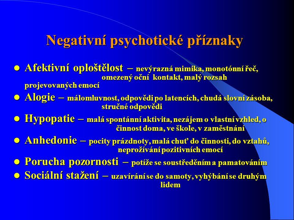 Negativní psychotické příznaky